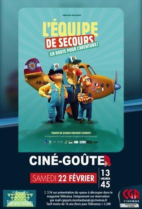 CINÉ-GOÛTER L'ÉQUIPE DE SECOURS EN ROUTE POUR L'AVENTURE! #Montauban @ Cinéma CGR Le Paris