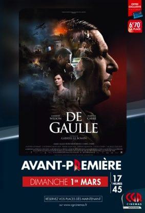 DE GAULLE EN AVANT-PREMIÈRE #Montauban @ CGR MONTAUBAN