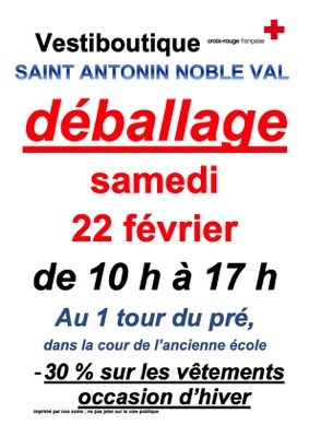 DEBALLAGE #Saint-Antonin-Noble-Val @ VESTIBOUTIQUE