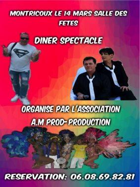DÎNER SPECTACLE #Montricoux @ Salle des fêtes