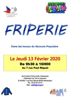 FRIPERIE #Montauban @ Secours Populaire de Montauban