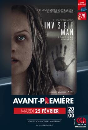 INVISIBLE MAN - EN AVANT-PREMIÈRE #Montauban @ CGR MONTAUBAN