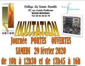 JOURNEE PORTES OUVERTES #Moissac @ Collège Sainte Famille