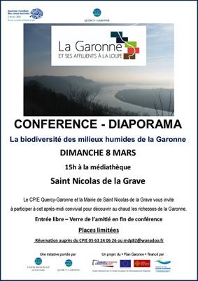 LA BIODIVERSITÉ DES MILIEUX HUMIDES DE LA GARONNE #Saint-Nicolas-de-la-Grave @ Médiathèque