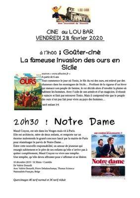 """""""LA FAMEUSE INVASION DES OURS EN SICILE"""" ET """"NOTRE-DAME"""" #Vazerac @ Lou bar"""