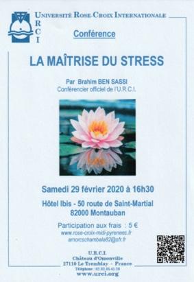 LA MAÎTRISE DU STRESS #Montauban @ Hôtel Ibis
