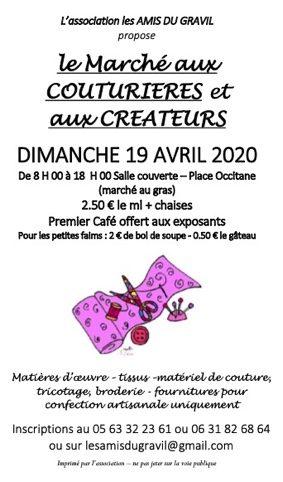 MARCHE AUX COUTURIERES ET AUX CREATEURS #Castelsarrasin @ Halles couvertes