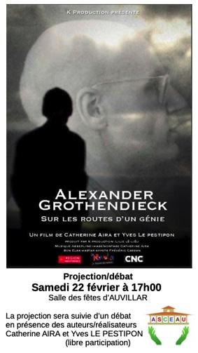 PROJECTION/DÉBAT : ALEXANDER GROTHENDIECK, SUR LES ROUTES D'UN GÉNIE #Auvillar @ Salle des fêtes