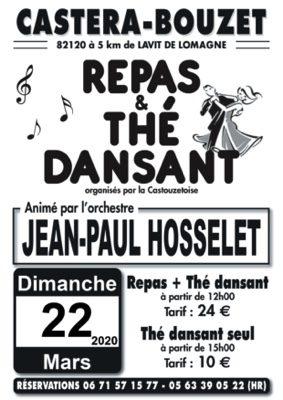 REPAS ET THE DANSANTS ANIMES PAR JEAN-PAUL HOSSELET #Castéra-Bouzet @ salle des fêtes