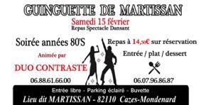 REPAS SPECTACLE DANSANT #Cazes-Mondenard @ La Grange de Martissan