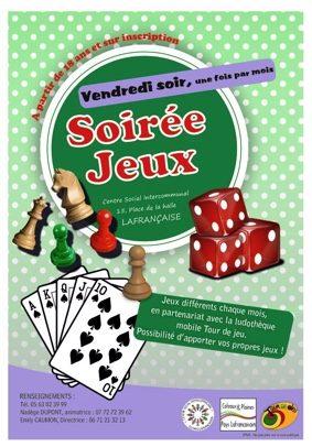 SOIRÉE JEUX #Lafrançaise @ Centre social
