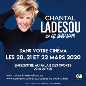 SPECTACLE DE CHANTAL LADESOU ON THE ROAD AGAIN #Beaumont-de-Lomagne @ Cinéma Les Nouveaux Bleus