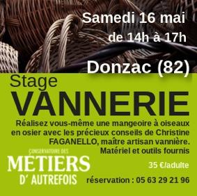 STAGE VANNERIE ADULTE #Donzac @ Conservatoire des métiers d'autrefois
