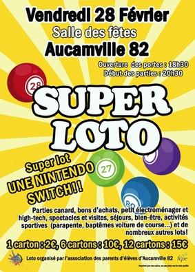 SUPER LOTO #Aucamville @ Salle des Fêtes