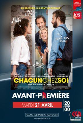 CHACUN CHEZ SOI EN AVANT-PREMIÈRE #Montauban @ CGR MONTAUBAN