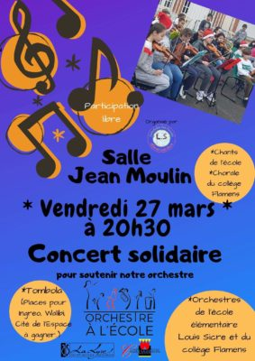 CONCERT SOLIDAIRE #Castelsarrasin @ Salle Jean Moulin