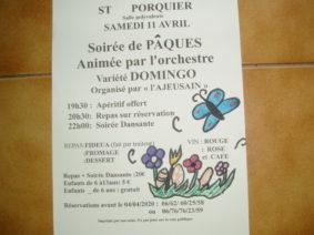 DÎNER SPECTACLE DE PÂQUES #Saint-Porquier @ salle des fêtes
