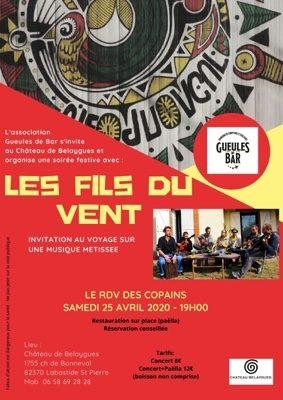 FILS DU VENT EN CONCERT #Labastide-Saint-Pierre @ Chateau de Belaygues