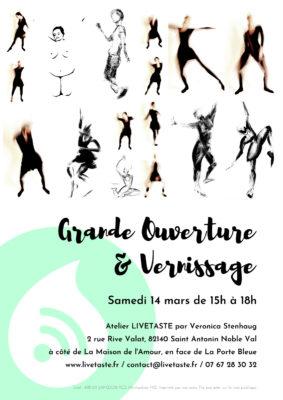 GRANDE OUVERTURE & VERNISSAGE #Saint-Antonin-Noble-Val @ Atelier LIVETASTE
