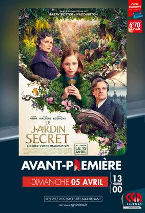 LE JARDIN SECRET EN AVANT-PREMIÈRE #Montauban @ CGR MONTAUBAN