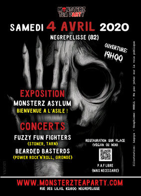 MONSTERZ ASYLUM : BIENVENUE À L'ASILE ! #Nègrepelisse @ Monsterz Tea Party