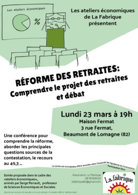 RÉFORME DES RETRAITES : COMPRENDRE LE PROJET DES RETRAITES ET DÉBAT #Beaumont-de-Lomagne @ Maison Fermat