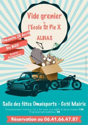 VIDE GRENIER ECOLE SAINT PIE X #Albias @ Salle des Fêtes Omnisports