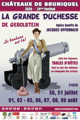 LA GRANDE DUCHESSE DE GEROLSTEIN #Bruniquel @ Châteaux de Bruniquel
