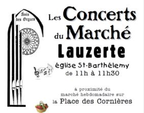 LES CONCERTS DU MARCHÉ DE LAUZERTE #Lauzerte @ Eglise St Barthélémy