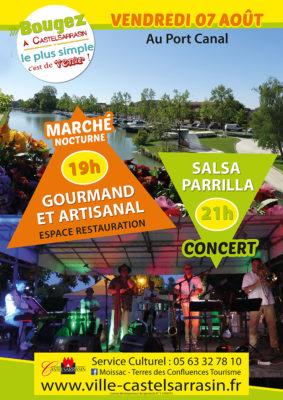 MARCHÉ GOURMAND ET ARTISANAL #Castelsarrasin @ Port Canal