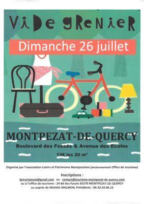 VIDE GRENIER #Montpezat-de-Quercy