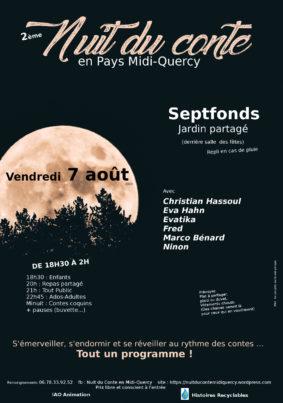 2ème NUIT DU CONTE EN MIDI QUERCY #Septfonds @ Jardin partagé
