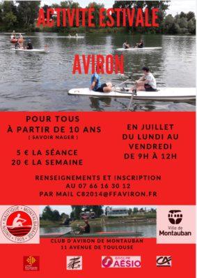 ACTIVITÉ ESTIVALE AVIRON #Montauban @ Club Aviron Montauban