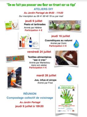 """ATELIERS DIY : TEXTILES ALIMENTAIRES """"SAC À VRAC"""" #Septfonds @ Jardin Partagé"""