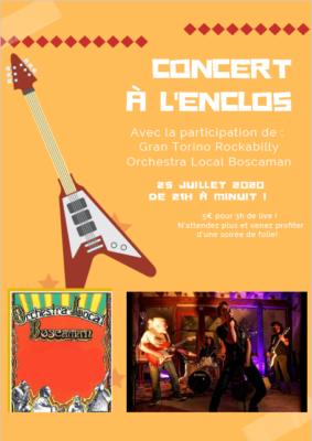 CONCERT AVEC GRAN TORINO ROCKABILLY & BOSCAMAN #Montaigu-de-Quercy @ l'Enclos