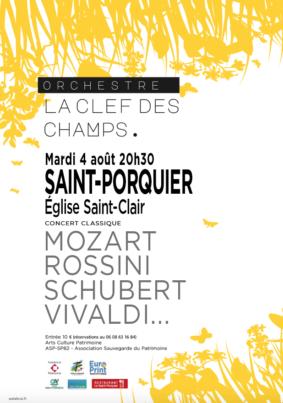 CONCERT LA CLEF DES CHAMPS #Saint-Porquier @ Eglise Saint-Clair