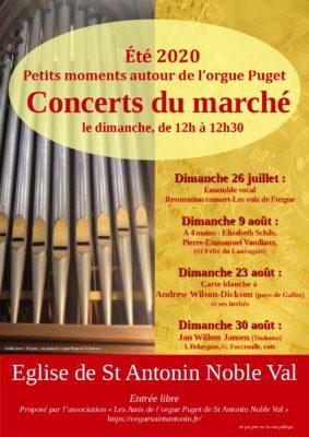 CONCERTS DU MARCHÉ #Saint-Antonin-Noble-Val @ Eglise