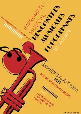 """""""IMPROMPTU MUSICAL"""" DANS LE CADRE DES RENCONTRES MUSICALES EUROPÉENNES #Lauzerte @ Eglise St Barthélémy"""