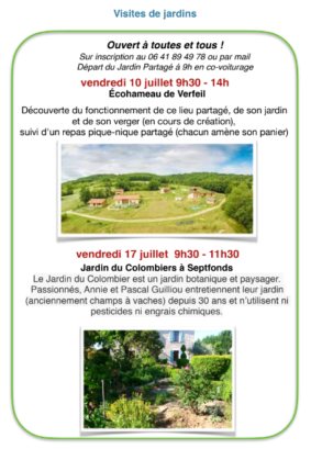 JARDIN DU COLOMBIERS #Septfonds @ Jardin Partagé