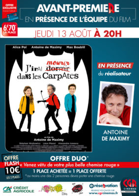 J'IRAI DORMIR DANS LES CARPATES - AVP EN PRESENCE DU RÉALISATEUR ANTOINE DE MAXIMY #Montauban @ CGR MONTAUBAN