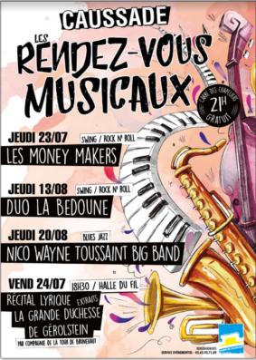 LES RENDEZ-VOUS MUSICAUX #Caussade @ Carré des Chapeliers