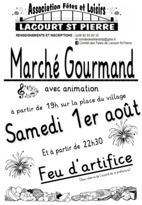 MARCHÉ GOURMAND #Lacourt-Saint-Pierre