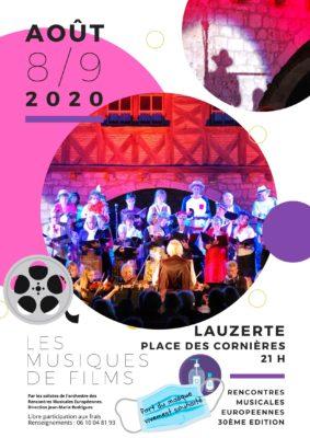 """SPECTACLE MUSICAL """"MUSIQUES DE FILMS #Lauzerte"""