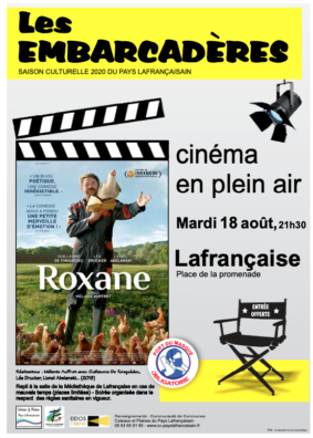 """CINÉMA PLEIN AIR """"ROXANE"""" #Lafrançaise"""