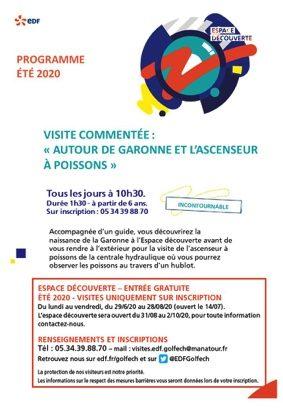 « AUTOUR DE LA GARONNE ET L'ASCENSEUR A POISSONS » - VISITE COMMENTÉE #Valence d'Agen @ Espace découverte EDF Golfech