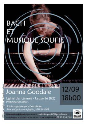 BACH ET MUSIQUE SOUFIE - JOANNA GOODALE #Lauzerte @ Eglise des Carmes