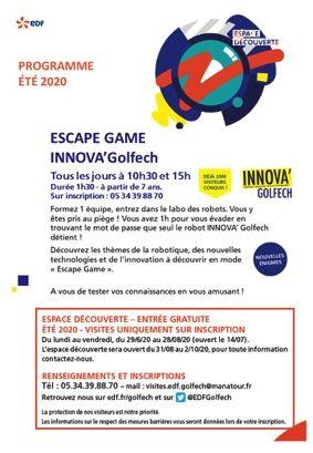ESCAPE GAME ROBOTIQUE // GRATUIT #Valence d'Agen @ Espace découverte EDF Golfech
