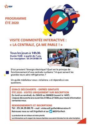 LA CENTRALE, ÇA VOUS PARLE ? - VISITE COMMENTÉE INTERACTIVE #Valence d'Agen @ Espace découverte EDF Golfech
