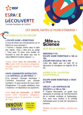 FÊTE DE LA SCIENCE - GOLFECH #Valence d'Agen @ Espace découverte EDF Golfech