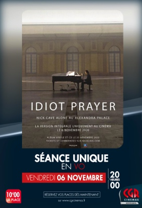IDIOT PRAYER - NICK CAVE ALONE AT ALEXANDRA PALACE #Montauban @ CGR MONTAUBAN